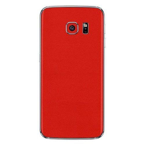 Adesivo Skin Premium Jateado Fosco Vermelho Galaxy S6 Edge