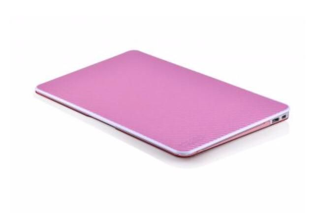 Capa MoonWalk Para Macbook Air 13 – Fibra De Carbono Rosa
