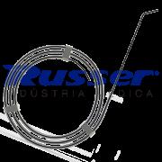Fio Guia de Nitinol Russer | Ponta Angulada | Preto| Soft | Standard | 0,035