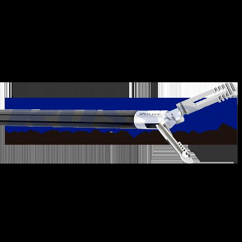 Pinça de apreensão serrilhada   Fenestrada   Dupla ação   330mm  com cremalheira
