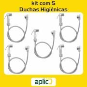 Kit 5 Ducha Higiênica ABS Cromado 1/4 de volta