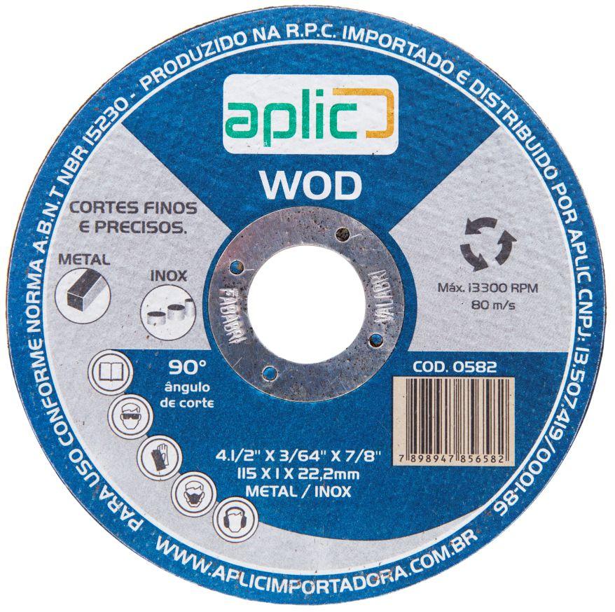 Disco De Corte Inox Wod 115 X 1 X 22,2mm 25 Peças