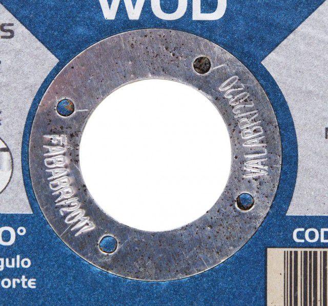 Disco De Corte Inox Wod 115 X 1 X 22,2mm 100 Peças