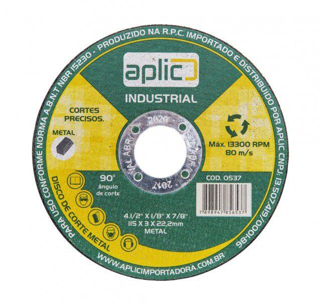 Disco De Corte Metal Industrial 115 X 3 X 22,2mm 10 Peças