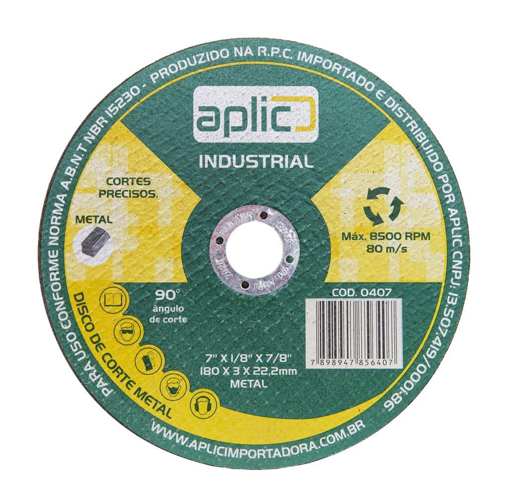 Disco De Corte Metal Industrial. 180 X 3 X 22,2mm 10 Peças