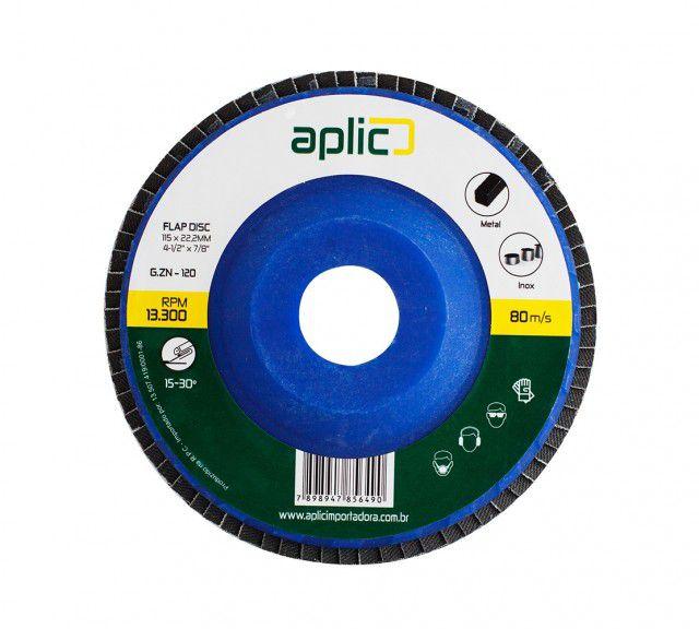 Disco De Lixa Flap 115 x 22,2mm Zirconio Grão 120 5 Peças