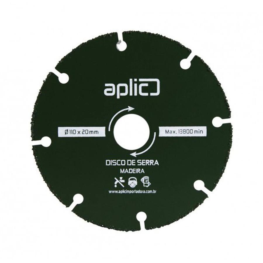 Disco De Serra  Para Madeira 110 x 20mm