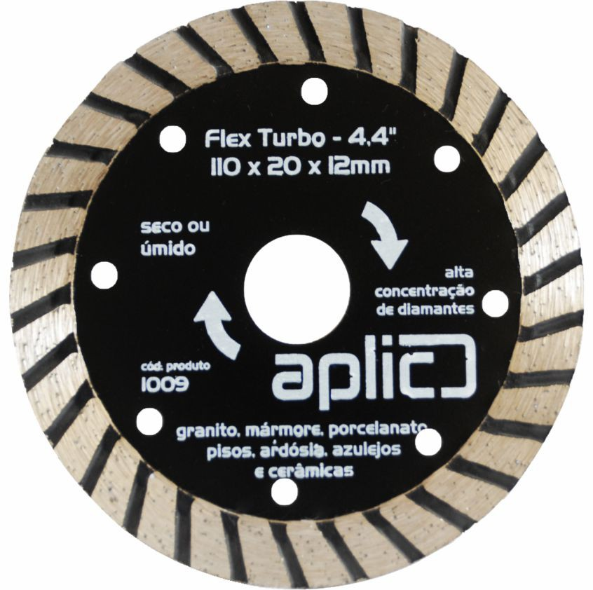 Disco Diamantado Turbo 110 X 20 X 12mm