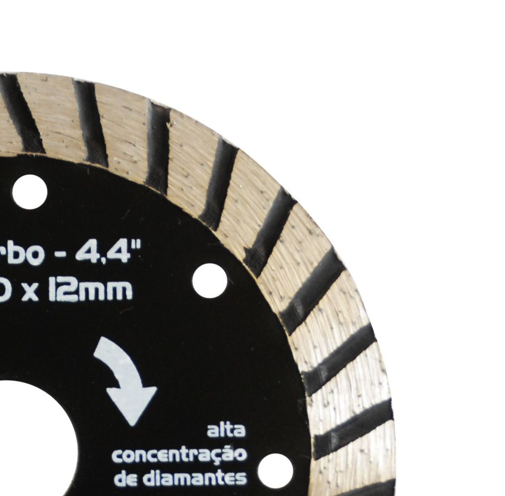 Kit 10 Disco Diamantado Turbo 110 X 20 X 12mm Serra Marmore