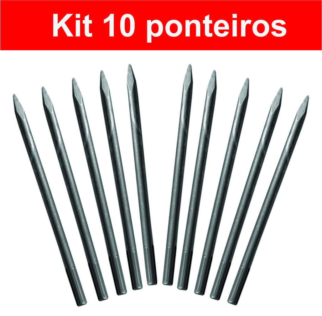 Kit 10 Ponteiro SDS Max 18 X 400 mm martelo 5kg e 10kg