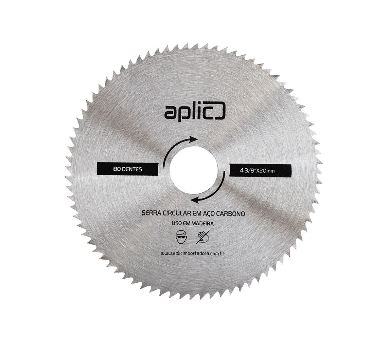 Serra Circular Aço Carbono 4.3/8 X 80d 5 peças