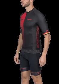 Camisa Ciclismo Supreme Bruxelas Vermelho Masculino Woom