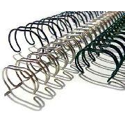 Espiral Wire-o Garra Duplo Anel 3x1 Ofício 1/4 20 fls Para Encadernação