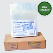 Envelopes Sacos Plastico Grosso Oficio 4 Furos 400 und