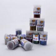 Jogo Brocal Metalizado Colorido 12 potes 3g Lantecor