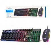Kit Mouse e Teclado Gamer LED RGB EXBOM BK-G550