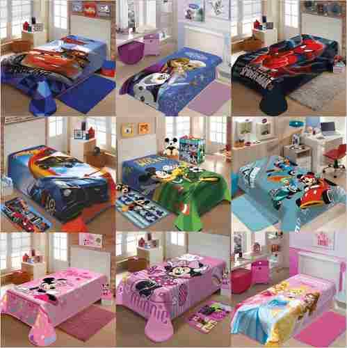 Cobertor Solteiro Infantil Vários Personagens Disney Jolitex sr