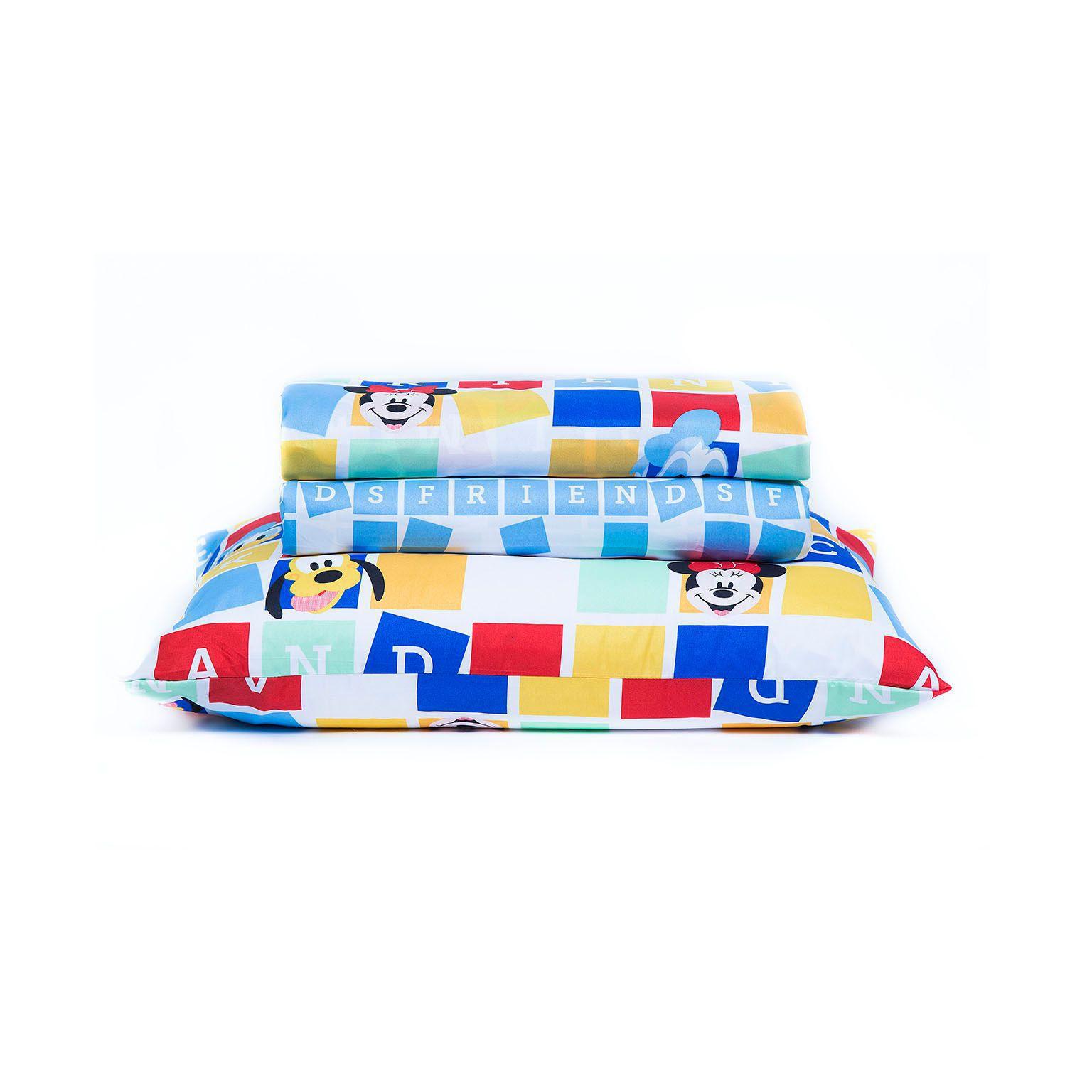 Jogo de Cama Infantil 150 fios Mickey Toy Disney Santista
