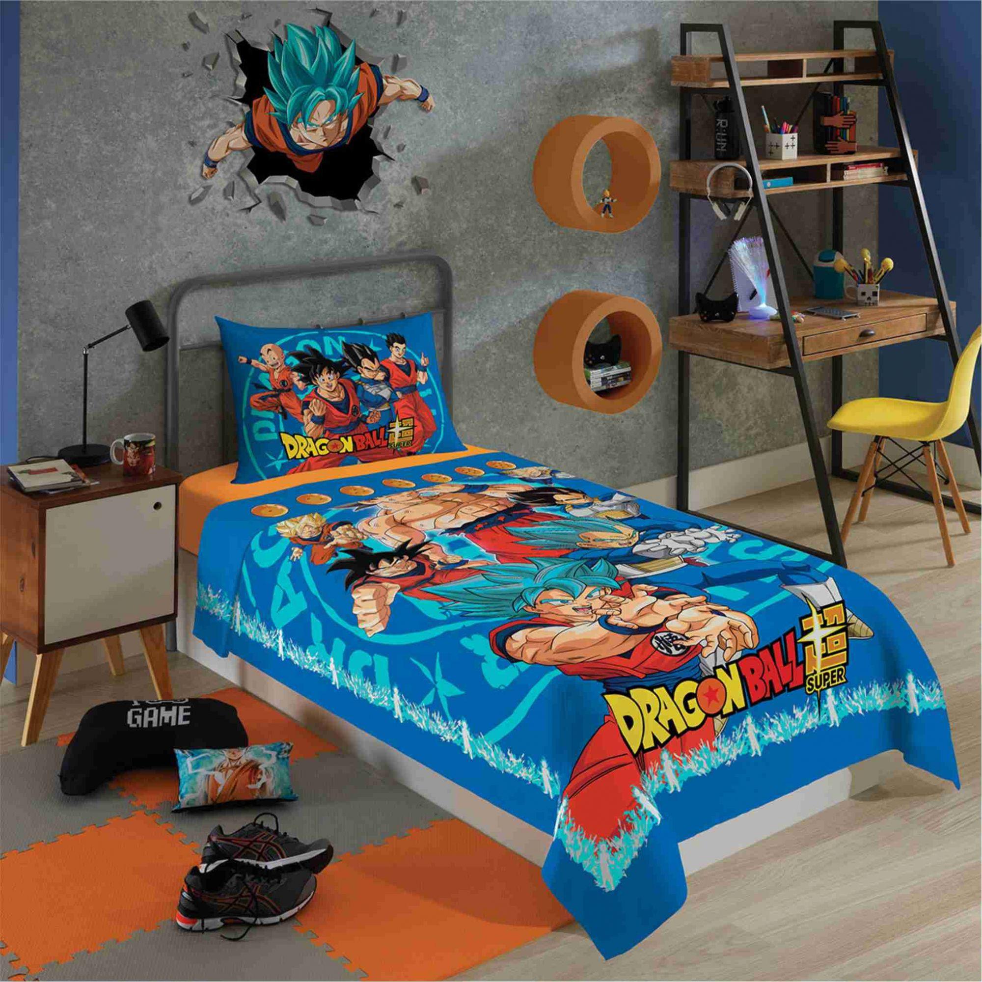 Jogo de Cama Lençol 3 Peças Infantil Dragon Ball Lepper
