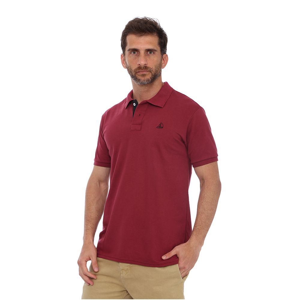 f521f3baab1e2 Camisa Polo Clube Náutico Slim Vinho - Zaxus - Moda Online