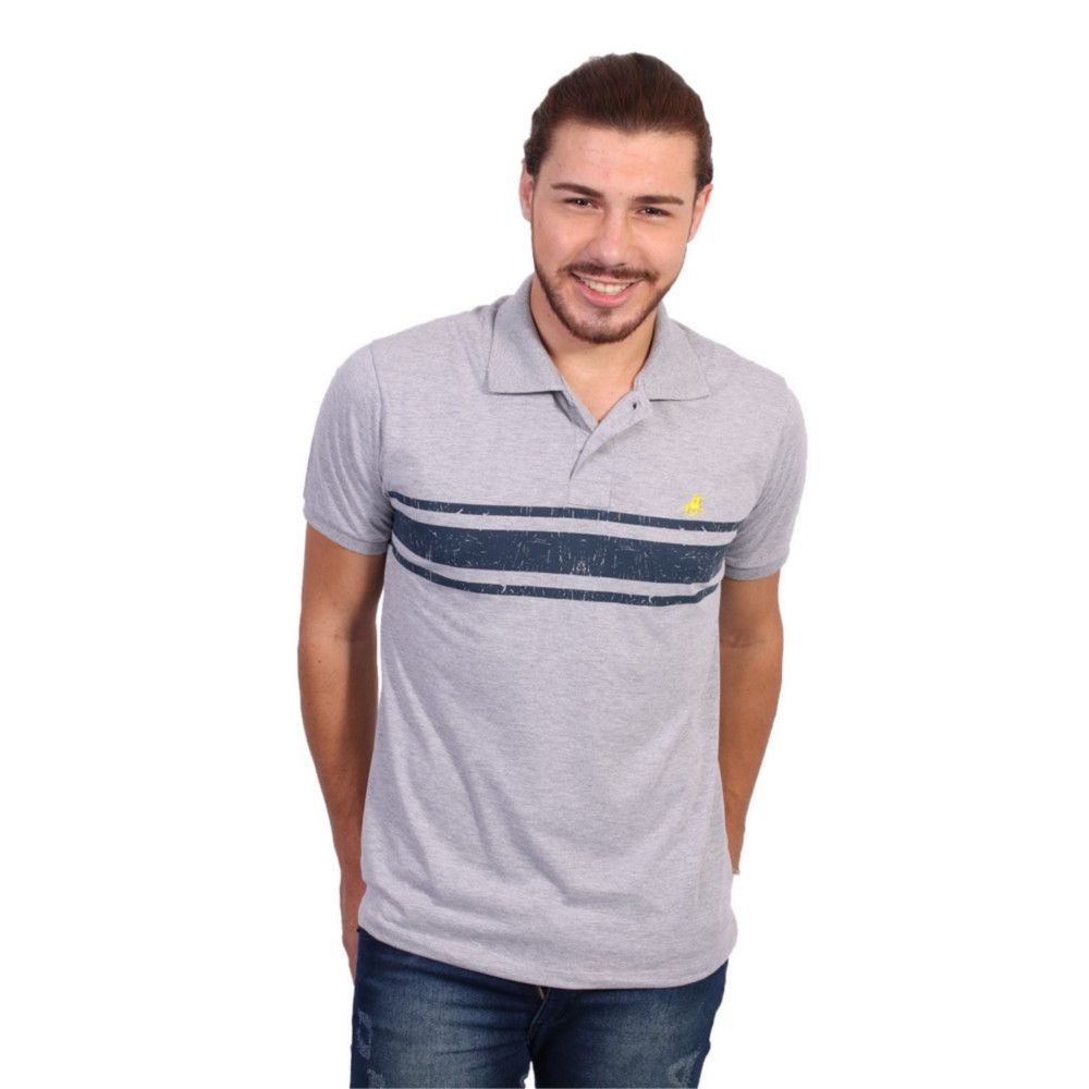 product page camisa polo golf club slim cinza claro - Zaxus - Moda ... 849887703fc2b