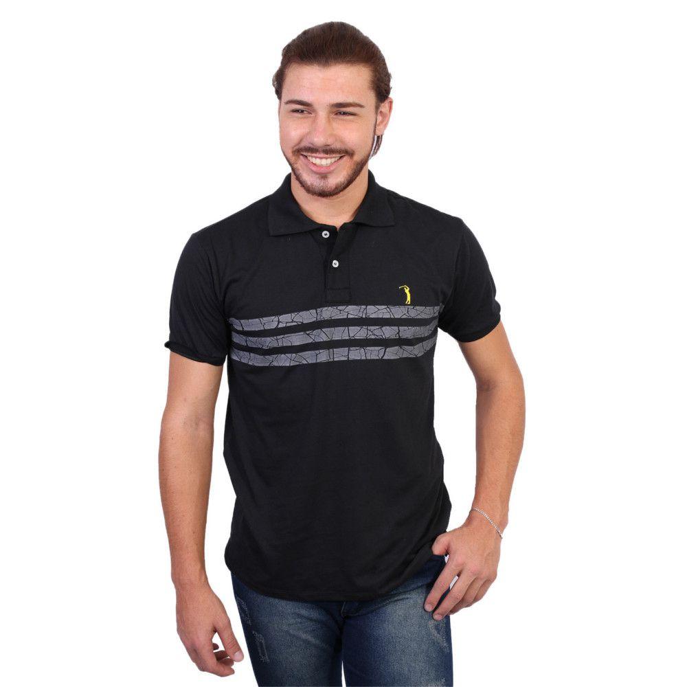 Camisa Polo Golf Club Listrada Preto - Zaxus - Moda Online 48085a39d3d53