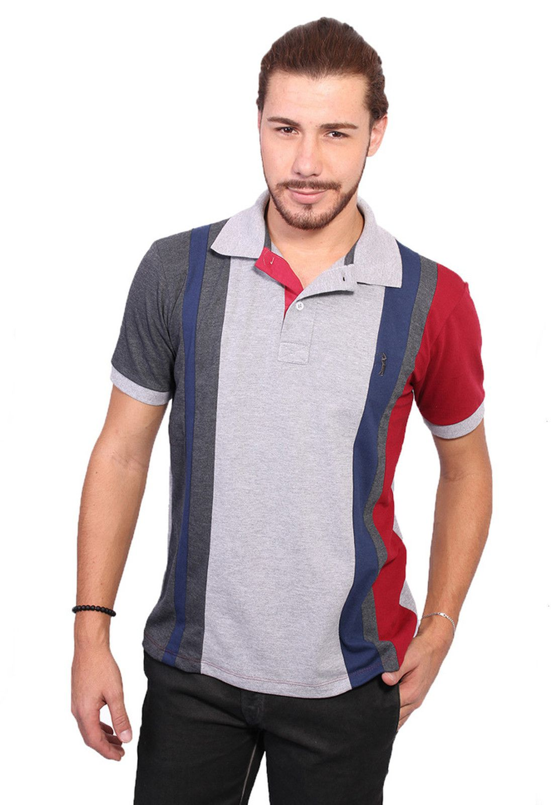 5e5ed1b2bb product page camisa polo golf club slim cinza claro - Zaxus - Moda ...