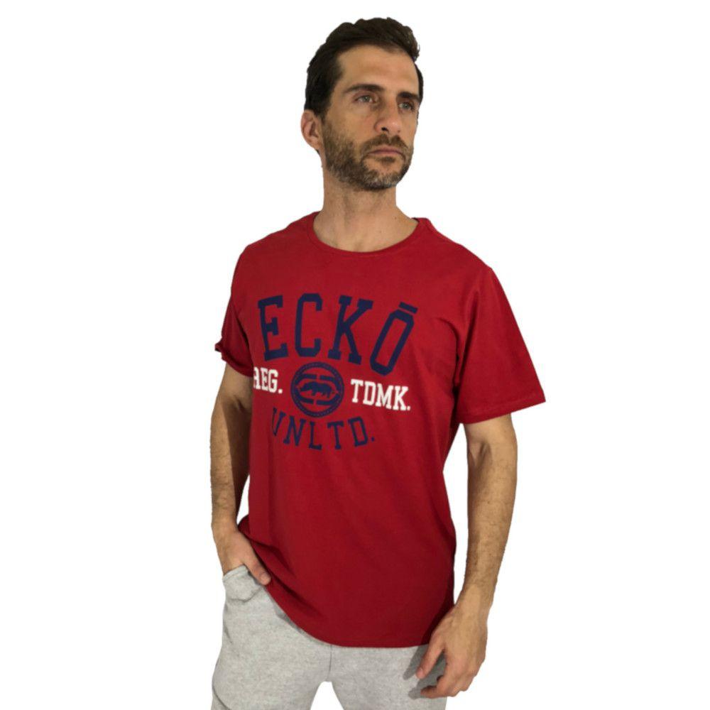 f8850ed69 Camiseta Ecko Manga Curta Vermelho - Zaxus - Moda Online