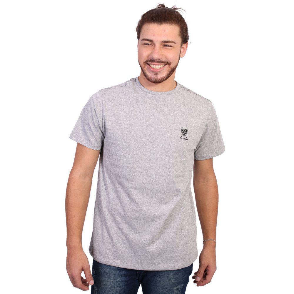 Camiseta New York Polo Club Tagless Cinza Claro 895644ff0b0ad