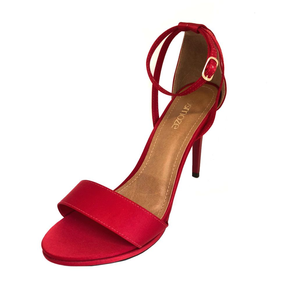 fe8c798da Sandália Osmoze Salto Fino Vermelho - Zaxus - Moda Online