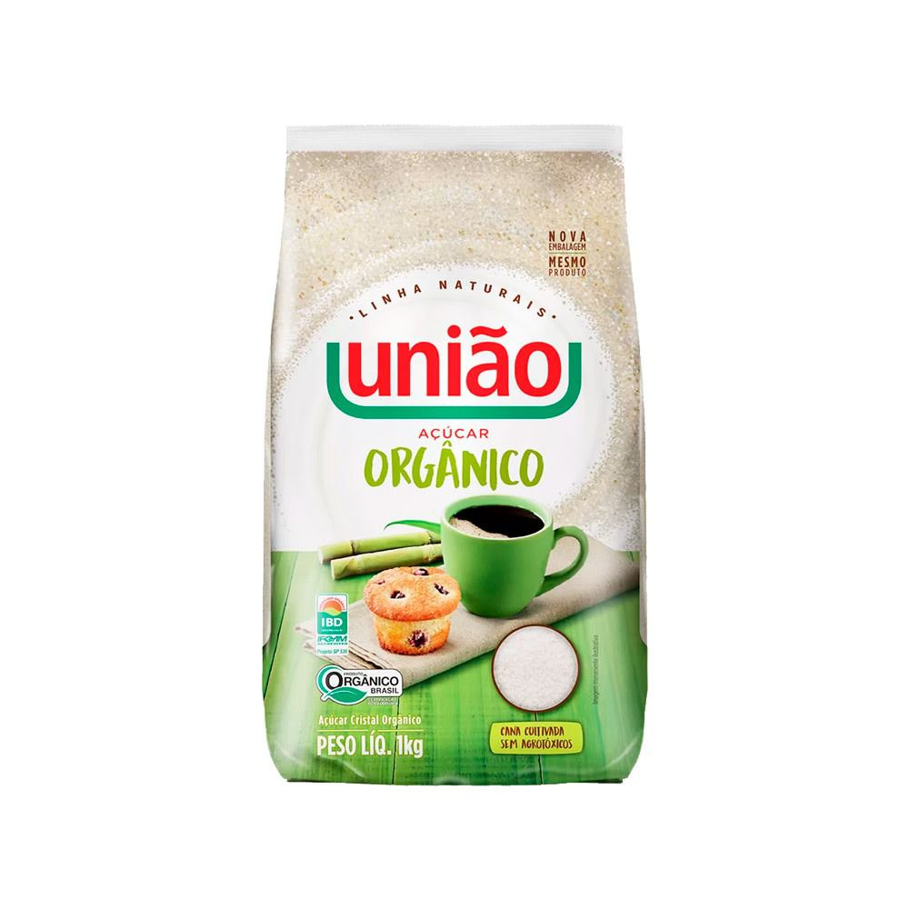 ACUCAR CRISTAL ORGANICO UNIAO  1KG