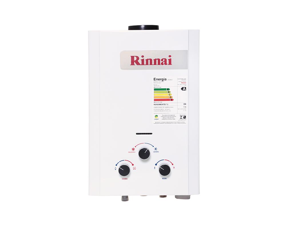 Aquecedor a Gás REUM071CFHBNE - Rinnai - 7,5 litros