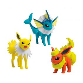 "Boneco Pokémon Action Figure 2"" - Jolteon, Vaporeon e Flareon | TOMY/Sunny"