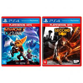 Combo Jogos Ratchet & Clank + inFAMOUS: Second Son - PS4