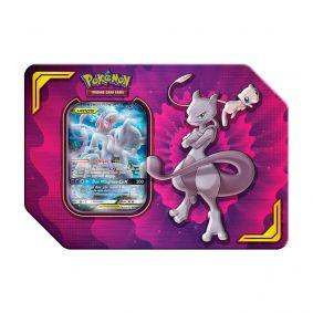 Pokémon TCG: Lata Colecionável Parceria Poderosa - Mewtwo e Mew GX