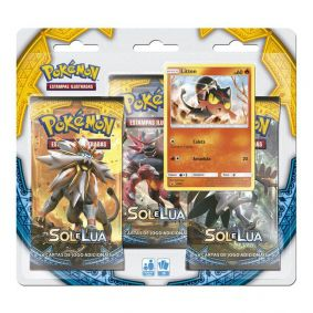 Pokémon TCG: Triple Pack SM1 Sol e Lua - Litten