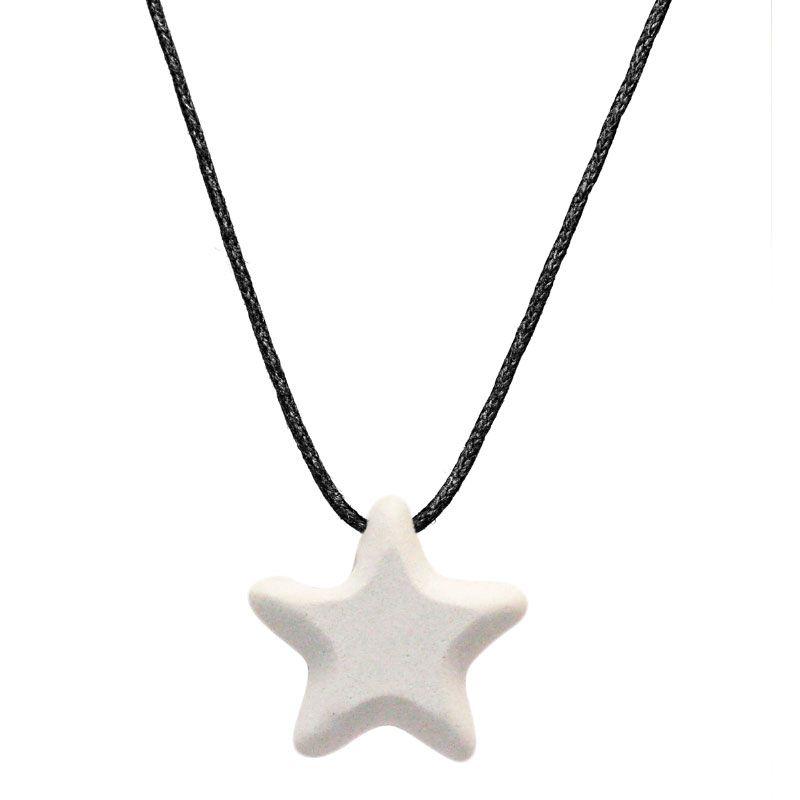 Colar Aromático Difusor Pessoal - Estrela Azul