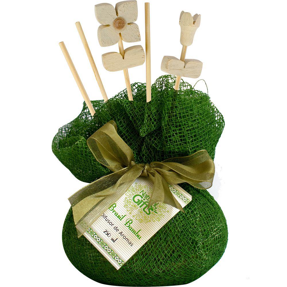 Difusor de Varetas 250ml Brasil Bambu - Natural Gifts