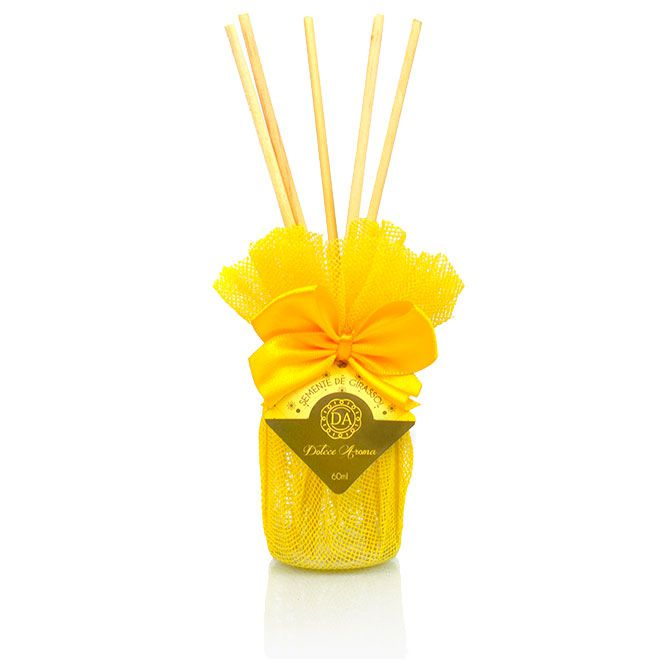 Difusor de Varetas Aviva 60ml Semente de Girassol - Dolcce Aroma