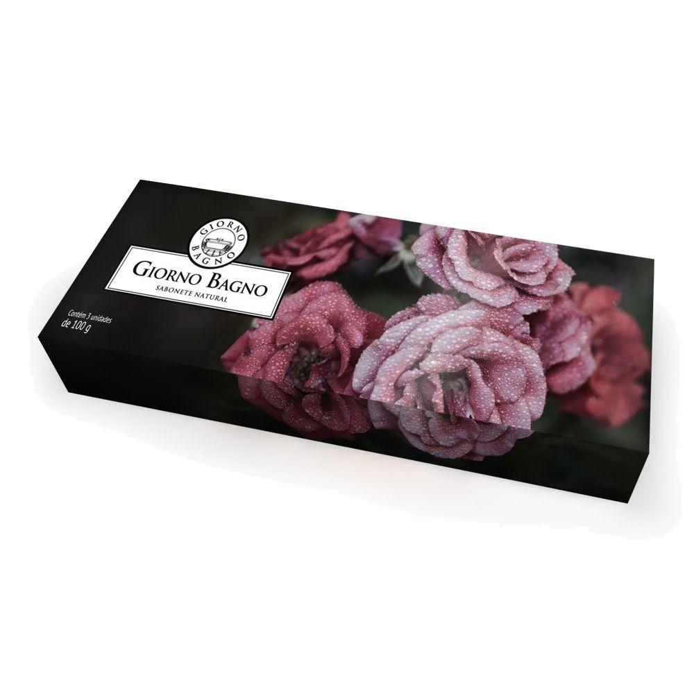 Kit de Sabonete 3x100g Rosas da Bulgária - Giorno