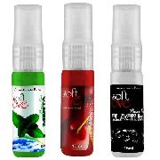 Aromatizante Bucal Power Kiss Ice Sabores variados 1 unid 15ml Soft Love