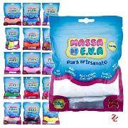 Kit 30 unidades Massa Eva Lisa Artesanato Foamy 50g Make+