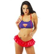 Mini Fantasia Heróis Super Girl Pimenta Sexy