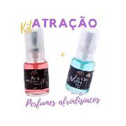 Kit Perfumes Feromônio Pher Woman E Pher Men Afrodisíaco 20ml Soft Love