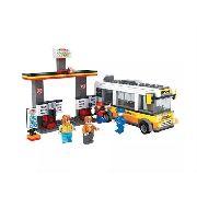 Blocos De Montar Click It Posto De Gasolina Tipo Lego 324 peças