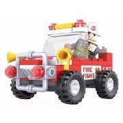 Carro De Bombeiro Blocos De Montar - Tipo Lego - Click It