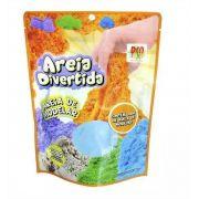 Areia de Modelar Divertida Cinética Kit c/3 Pacotes 300g Cada DM Toys Super Oferta