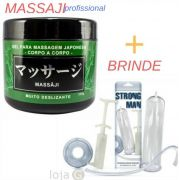 Massaji Gel Massagem Japonesa Nuru Hot Flowers + Bomba Peniana Manual Sexy Fantasy
