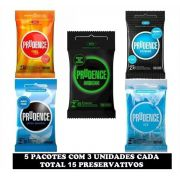 Preservativo Neon Prudence Fire Ice Extreme kit 5