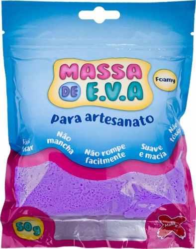 kit 20 unidades Massa Eva Lisa Artesanato Foamy 50g Make +